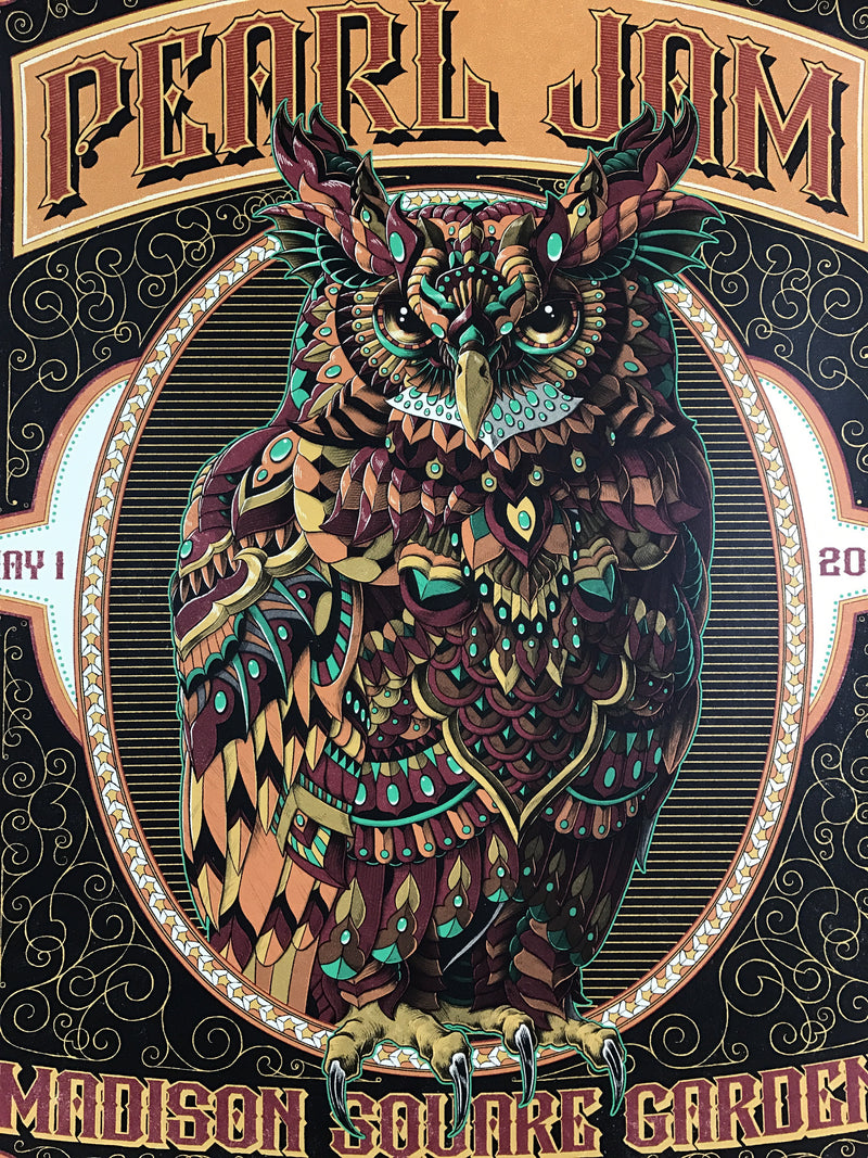 Pearl Jam - 2016 BioWorkZ poster New York, Madison Square Garden, MSG, NY