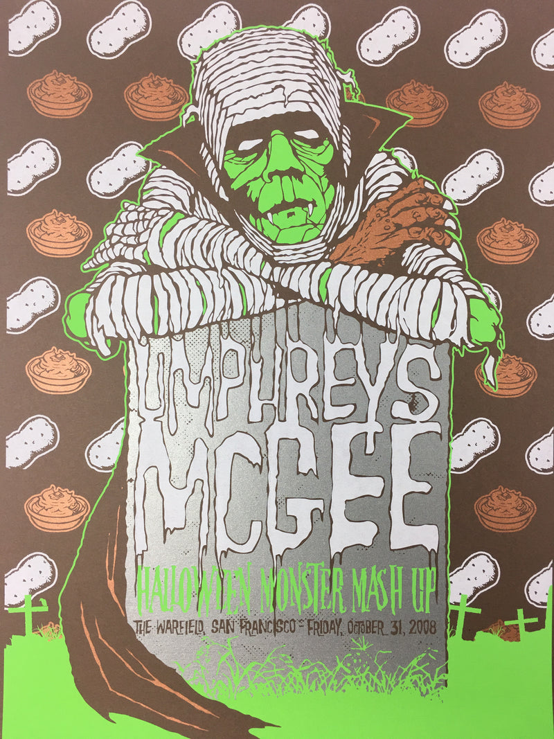 Umphrey's McGee - 2008 Todd Slater Poster San Francisco, CA Warfield Theater