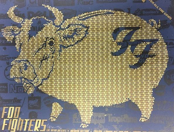 Foo Fighters - 2008 Todd Slater Poster Philadelphia, PA Wachovia Spectrum