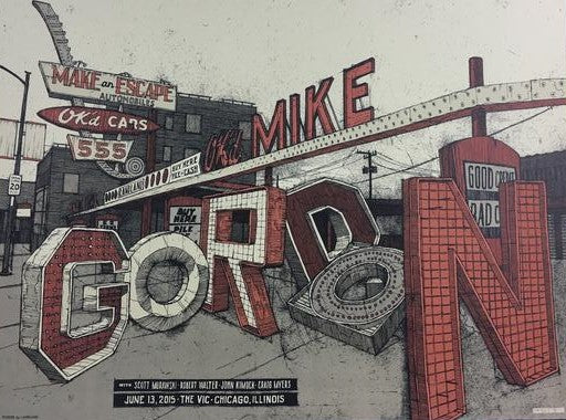 Mike Gordon - 2015 Landland Poster Chicago, IL Vic Theater