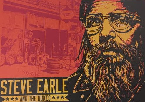 Steve Earle - 2017 Xray Poster West Hollywood, CA Troubadour