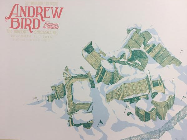 Andrew Bird - 2015 Landland Poster Chicago, IL The Hideout