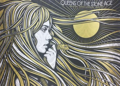 Queens of the Stone Age - 2018 Todd Slater Poster Austin, TX Austin 360 Amphithe