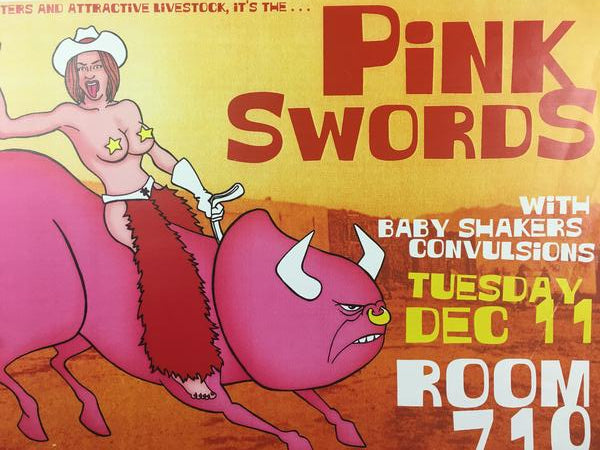 Pink Swords - 2001 Robert Jones Poster Austin, TX Room 710