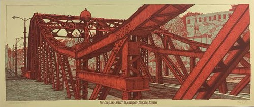 Cortland Street Drawbridge - 2014 Landland Poster Art Print Chicago