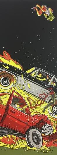 A 1971 Chevy Nova Making Love to a 1996 Honda Civic (Death Proof) - 2011 Tim Doyle Poster Art Print