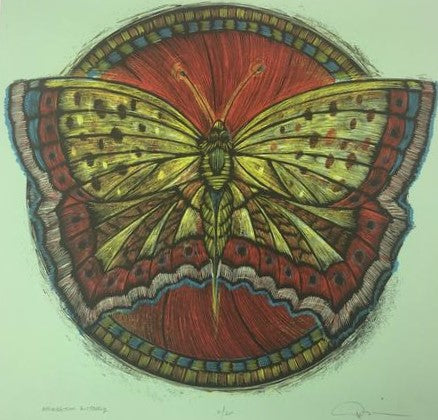 Wooden Resurrection Butterfly - 2013 Dan Grzeca Poster Art Print