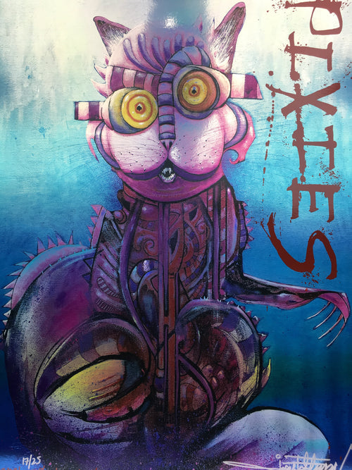 Pixies - 2019 Joey Feldman foil poster Columbus, OH Schottenstein Center