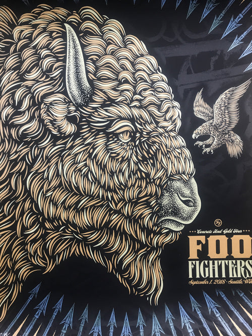 Foo Fighters - 2018 Todd Slater poster Seattle, WA Safeco Field