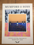 Mumford and & Sons - 2019 poster VIP Chicago United Center print
