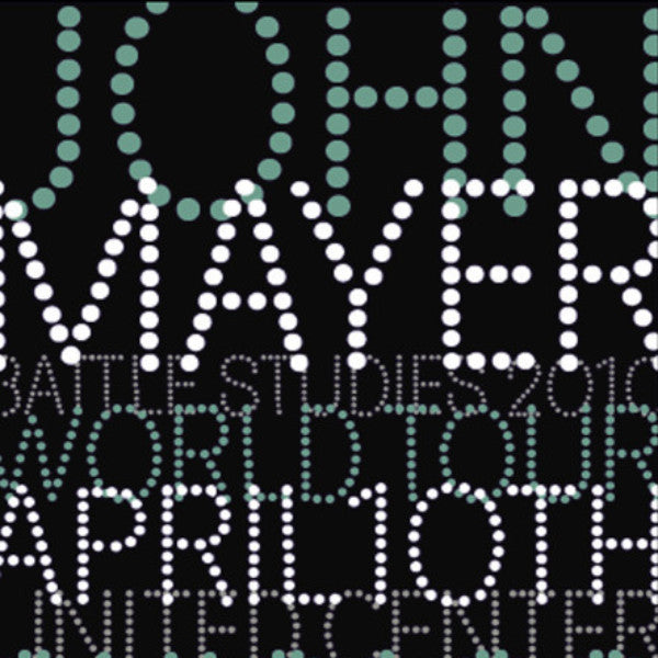 John Mayer - 2010 House Industries poster United Center Chicago