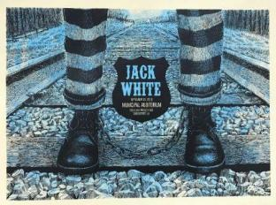 Jack White - 2018 Methane Studios poster Shreveport, LA BHR Tour