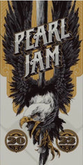 Pearl Jam - 2016 Ken Taylor poster Chicago, IL Wrigley Field
