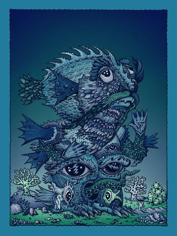 Left Handed Ocean Man - 2019 David Welker poster, art print
