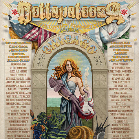 Lollapalooza - 2010 Phineas X. Jones Chicago Grant Park poster print