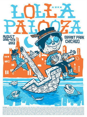 Lollapalooza - 2013 Michael Sieben poster numbered edition Chicago