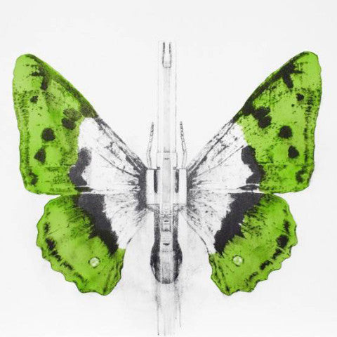 344 - 2014 Ludo street artist butterfly lithograph poster