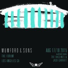 Mumford and & Sons - 2015 poster Los Angeles The Forum
