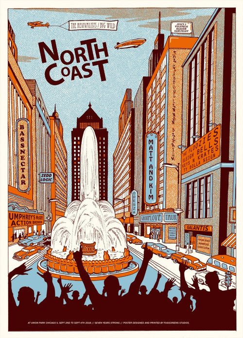 North Coast - 2016 Fugscreens Studios poster Chicago The Revivalists