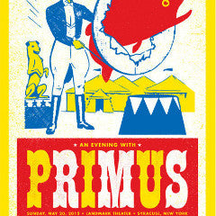 Primus - 2012 Aesthetic Apparatus poster Syracuse Landmark Theater