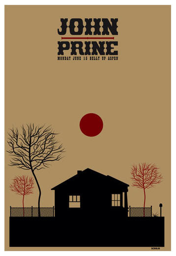 John Prine - 2009 Scrojo Poster Aspen, CO Belly Up