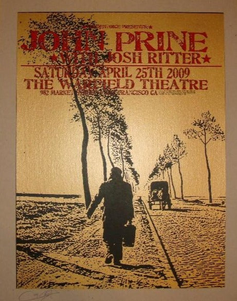 John Prine - 2009 Ron Donovan poster San Francisco, CA Warfield