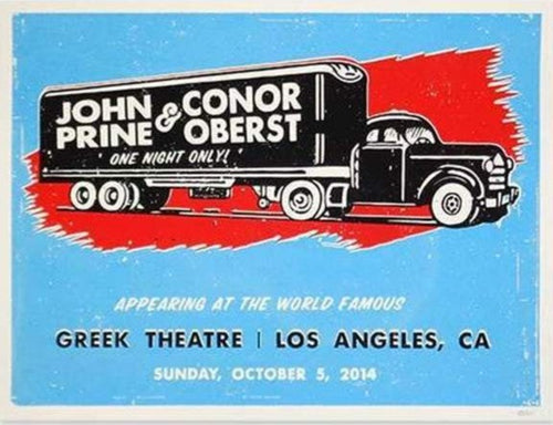 John Prine - 2014 Poster Los Angeles, CA Greek Theatre