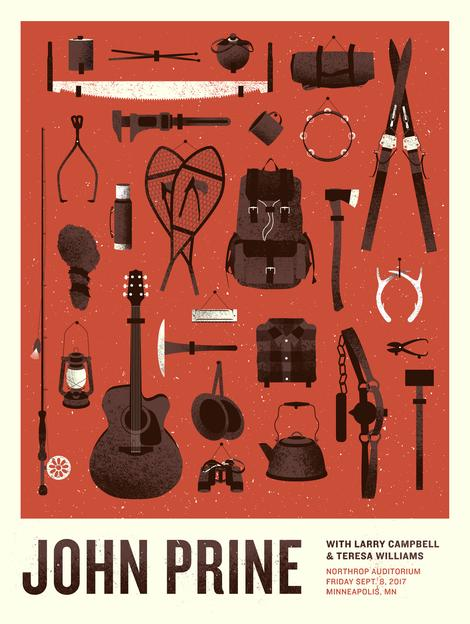 John Prine - 2017 Ambient Ink poster Minneapolis, MN