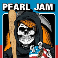 Pearl Jam - 2016 Sean Cliver poster Chicago, IL Wrigley VARIANT