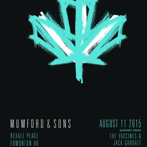 Mumford and & Sons - 2015 poster Edmonton, AB Rexall Place