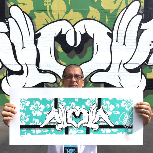 Big Slick Aloha - 2017 Slick poster blue edition Pow! Wow! Hawaii