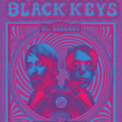 The Black Keys - 2014 EMEK Poster Nashville, TN Bridgestone Arena BLUE Psycadeli