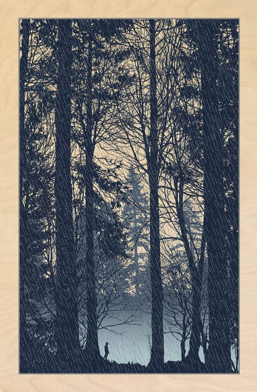 The Rain Had A Sound - 2017 Dan McCarthy WOOD panel, art print poster