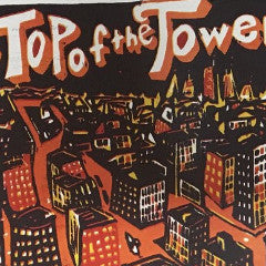 Top of the Tower - Jim Pollock poster Chicago print carve repeat