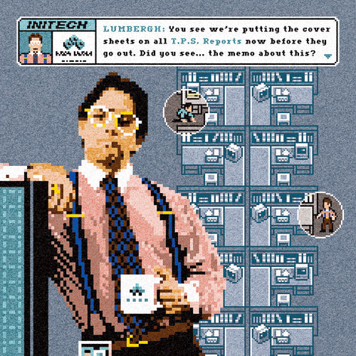 TPS Reports - 2008 Jude Buffum art print Office Space Lumbergh