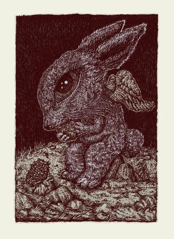 Truffle Bunny - 2019 David Welker poster, art print, VARIANT Edition