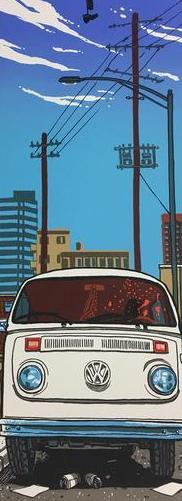 Louis Gara Meets His End in a 1973 Volkswagen Bus - 2011 Tim Doyle Poster Art Pr