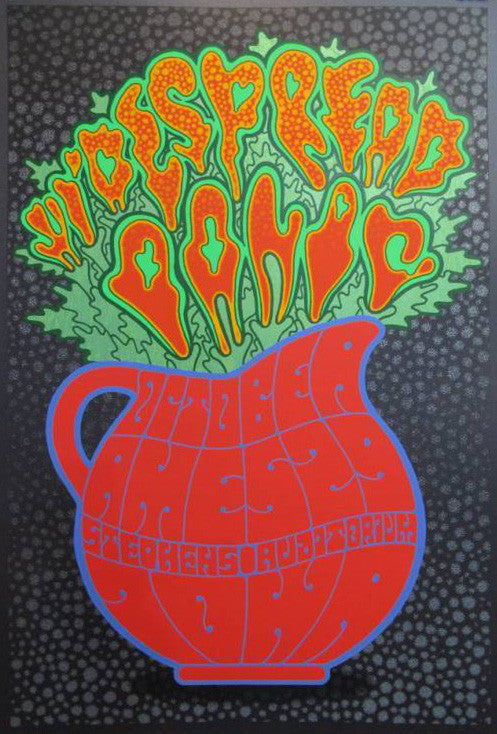 Widespread Panic - 2014 Chuck Sperry Poster Ames, IA Metallic Black Ed