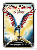 Willie Nelson & Family - 2013 Zeb Love Poster Cary, NC Booth Amphitheater