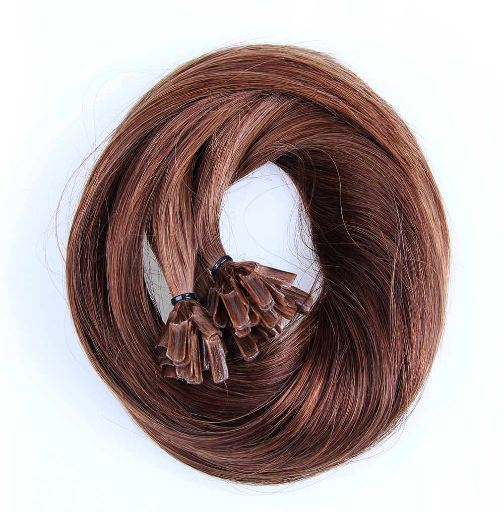 "U-tip Straight Remy Fusion Hair 100G 20"" (4) Chocolate Brown"
