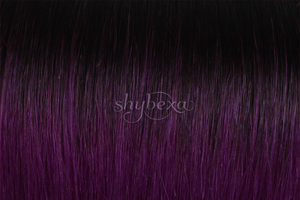 "Clip-in Remy Extensions 220G 20"" ( 1 B ) Ombré Purple"