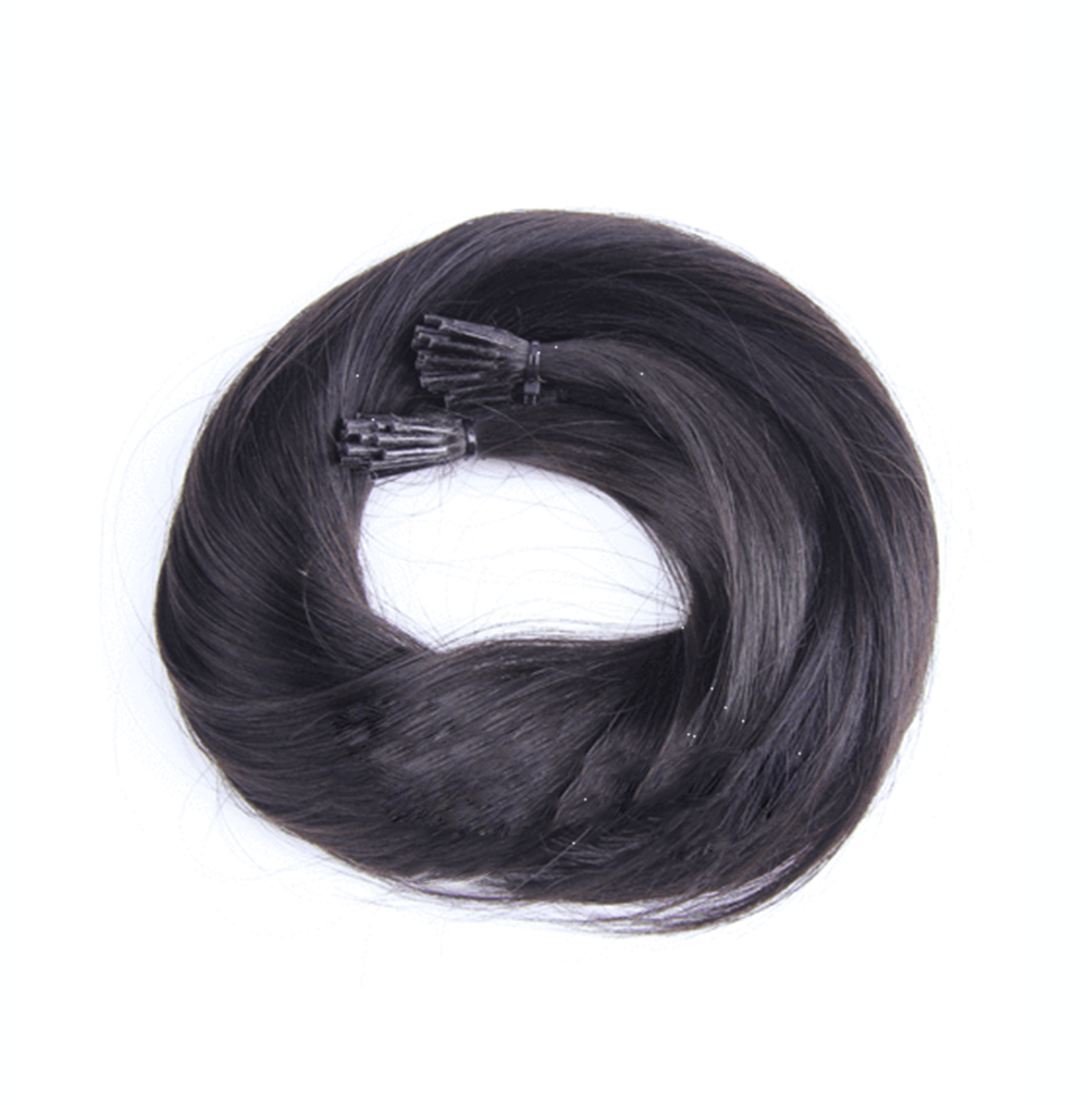 "I-tip Straight Remy Fusion Hair 100G 20"" (1B) Off Black"