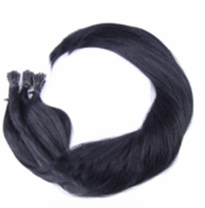"I-tip Straight Remy Fusion Hair 100G 20"" ( 1 ) Jet Black"