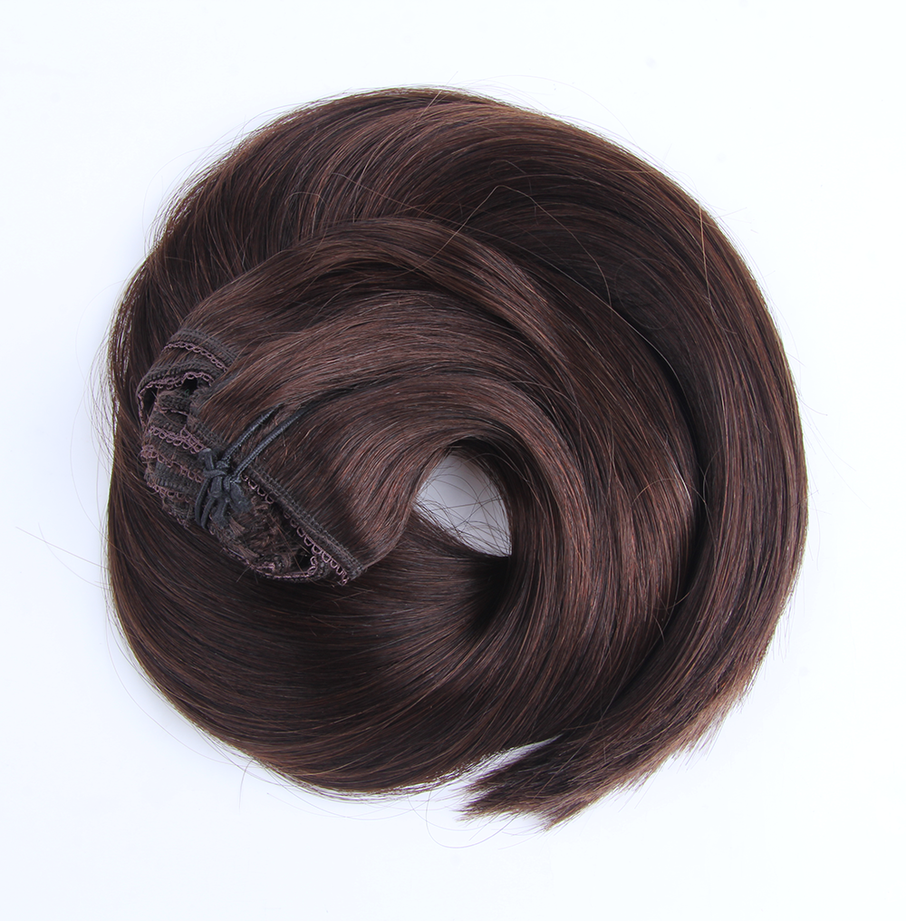 "Clip-in Remy Extensions 220G 20"" (2) Dark Brown"