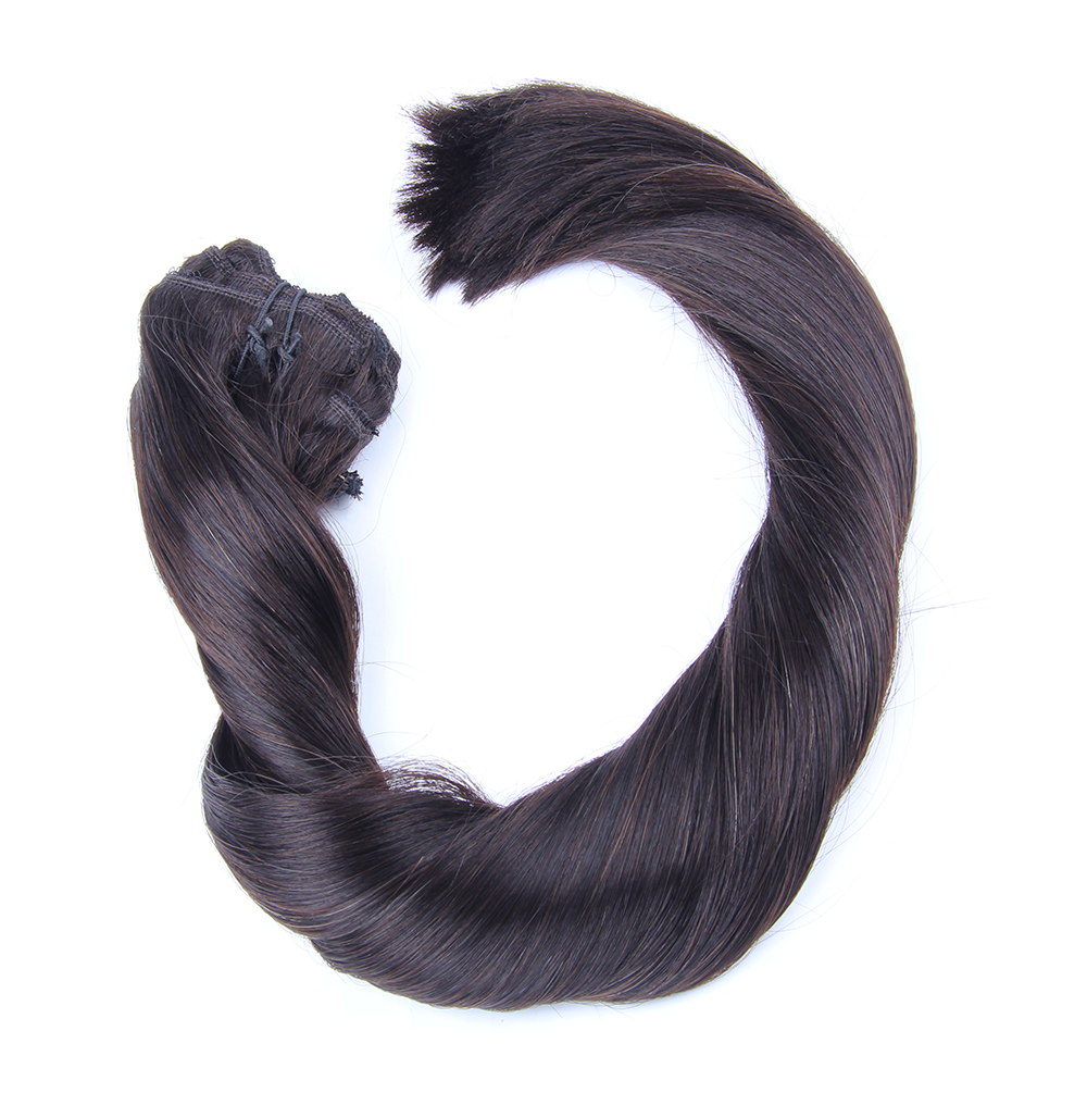 "Clip-in Remy Extensions 220G 20"" (1B) Off Black"