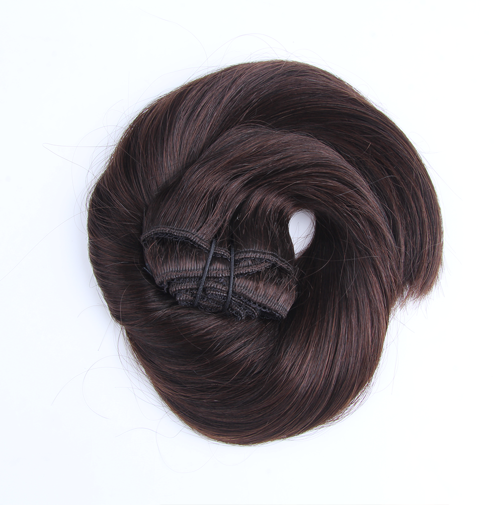 "Clip-in Remy Extensions 220G 20"" (1C) Mocha Brown"