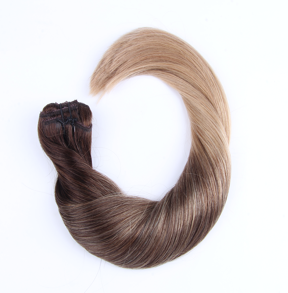 "Clip-in Remy Extensions 160G 20"" (2/18) Ombré Blonde"