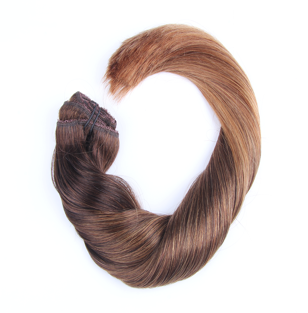 "Clip-in Remy Extensions 220G 20"" (2/6) Ombré Chestnut"