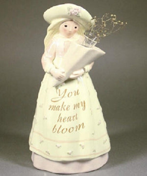 Enesco Seeds of Love Make My Heart Bloom Figural Vase-0000592