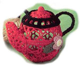 Mary Engelbreit Comfort & Joy Crocheted Teapot Hanging Ornaments-112276-C